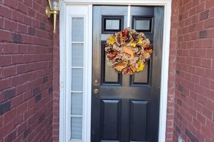 Pooler Entry Door - Before