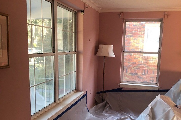 Midtown Savannah Windows Inside - Before